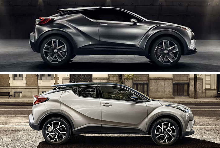 Toyota Zambia | Toyota C-HR: concept car vs production car