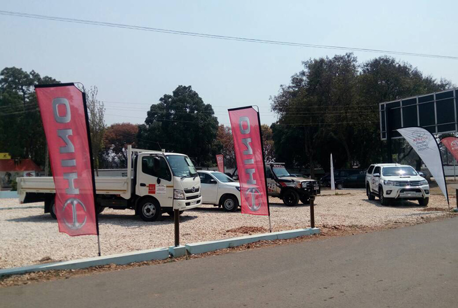 Toyota Display at Stanbic Bank Livestock Auction