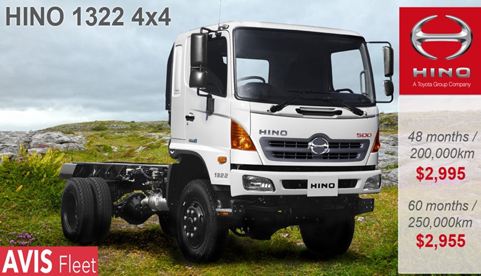 Hino 500 Series: Special Lease Offer- Just add Fuel!