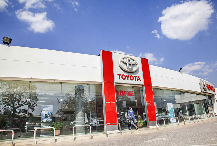 Safety precautionary measures during washing vehicles at Toyota Zambia