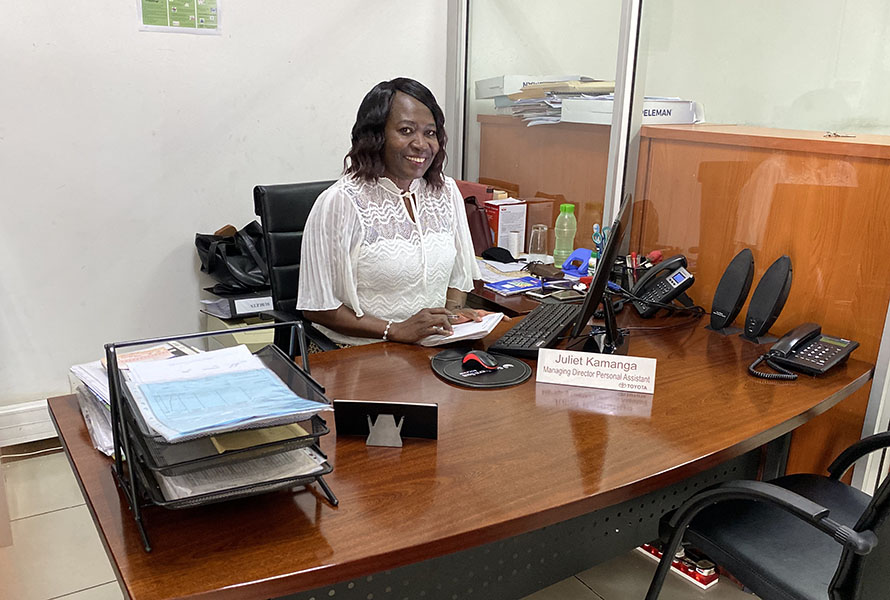 Longest Serving Employee: Ms Juliet Kamanga - Personal Assistant to CEO/COO