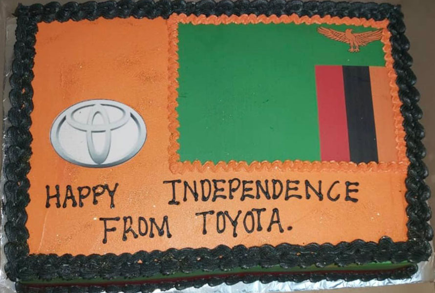 Eve of Zambia's 56th Independence anniversary at Toyota Zambia