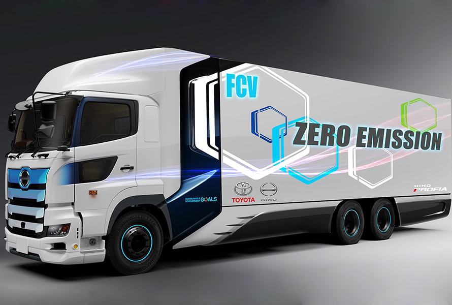 Toyota to develop hydrogen fuel cell truck with Hino Motors